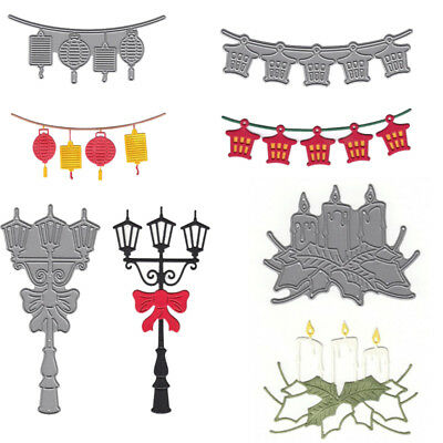 Light Candle Metal Cutting Dies Scrapbooking Embossing Album Decor Paper Crafts