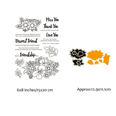 Flowers Stamps Metal Cutting Dies Stencil Handcrafts Paper Card Seal Decorative