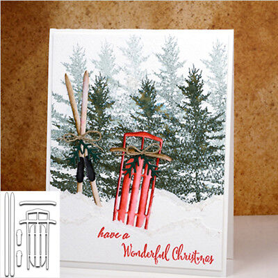 Ski Snowboards Die-Cut Carbon Steel Cutting Dies Stencil DIY Scrapbooking Album