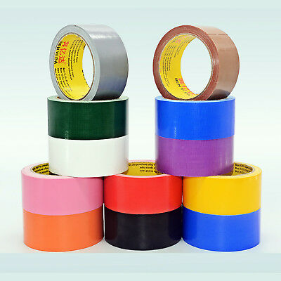 Waterproof Cloth Duct Tape Roll Strong Sticky Adhesive Craft Repair 10/20 Meters