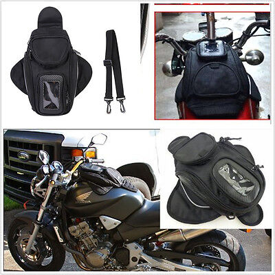 4-Pocket Magnetic Motorcycle Motorbike Oil Fuel Tank Bag Waterproof Saddlebag