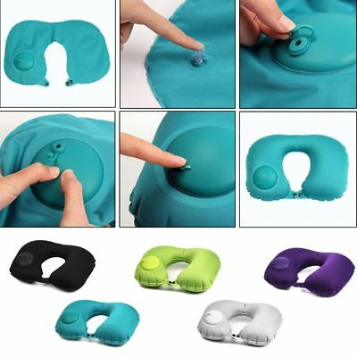 Inflatable Pillow U Shape Camping Travel Soft Neck Pillow Sleep Head Cushion