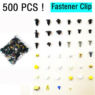 500X Universal Mixed Auto Fastener Car Bumper Clips Retainer Fastener Rivet Door