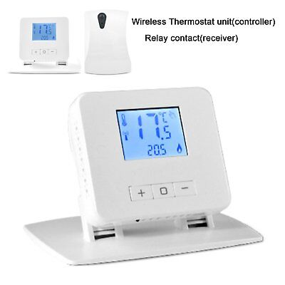 Easy Operate Wireless Digital Heating Thermostat+ Stand for Room Heating System