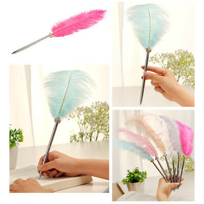 Creative Feather Quill Ballpoint Pen Wedding Party Stationery Student Gifts AU