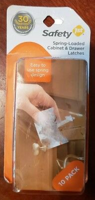 New Safety 1st Spring Loaded Cabinet and Drawer Latches (10-Pack)