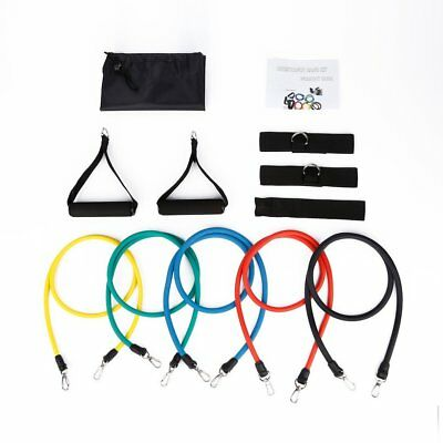 11-in-1 Gymnastikband Fitnessbänder Training Widerstand Bänder Set Yoga Latex