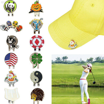 58C0 Golf Hat Clip Portable 12 Style Divot Tool with Magnetic Golf Ball Marker