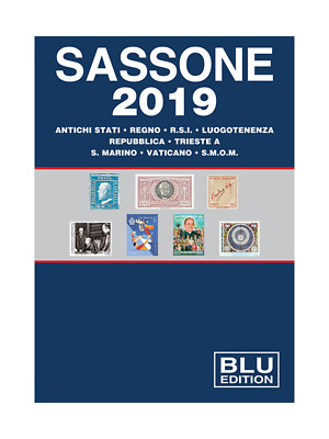 Sassone Italy BLU Stamp Catalogue 2019 edition - brand new edition