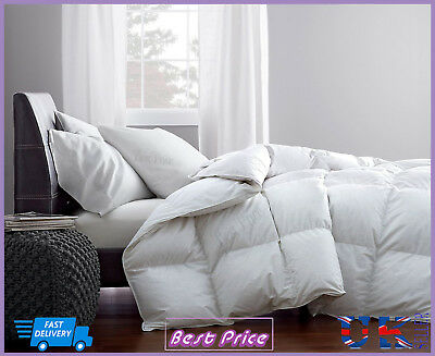 New Warm Soft Luxury 100% Pure Hungarian Goose Down 15 Tog Quilt Duvet All Sizes