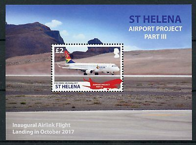 St Helena 2018 MNH Airport Project III Airlink 1v M/S Planes Aviation Stamps