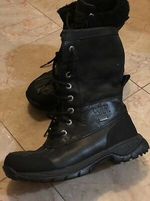 17fd62df64b UGG BUTTE KIDS Waterproof Snow Boots Black Leather -Kids Us 5 -New ...