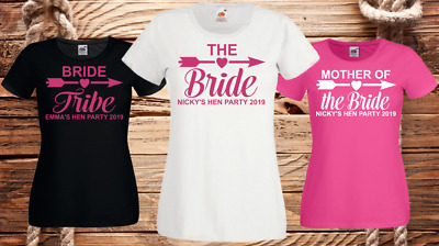 Hen T Shirts Hen Do Party Night Bride T-Shirt Custom Ladies Personalised Printed