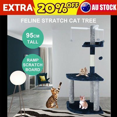 Pet! Cat Scratching Tree Post Gym House Scratcher Pole Furniture Toy Small 115cm