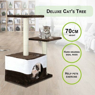 Cat Scratching Tree Scratcher Pole Furniture Gym House Kitten Funny Toy 70cm AUS