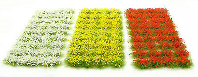 Flower set 1-  x117 tufts - Self adhesive static model scenery