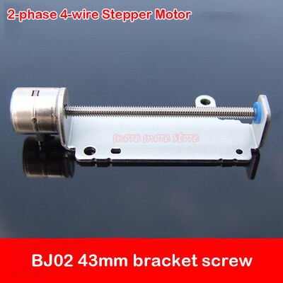 2-Phase 4-Wire Micro 43mm Stepper Motor with Bracket Screw Rod Camera Slider Nut