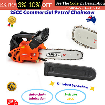 "25CC Commercial Petrol Chainsaw E Start 22"" Bar Tree Pruning Garden Saw New"