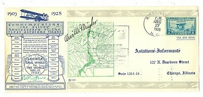 Orville Wright Signed 1928 Cover 25Th Anniversary Wright Brothers First Flight
