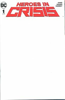 Heroes In Crisis #1 (Of 7) Blank Cover Var - Dc Comics -  G578