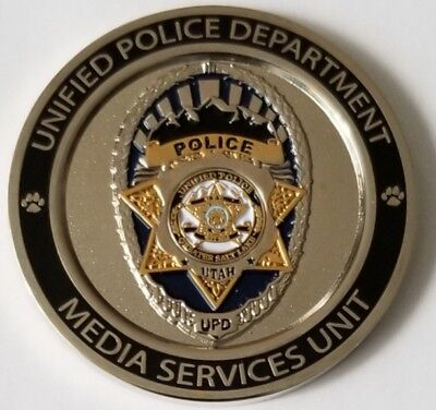 """UNIFIED Police Department UPD Media Services Unit Sergeant Siren 1.75"""" Coin"""