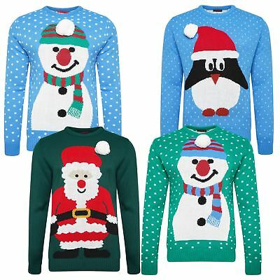 Mens Womens Ladies Adults Novelty Christmas Xmas Jumper Sweater Fun Festive Gift