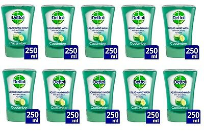 Dettol No Touch Refill Handwash Anti-bacterial Cucumber Splash 10x250ml EXPFEB19