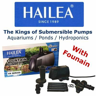 Hailea Low Level Variable Flow Submersible Water Pump w/ Fountain