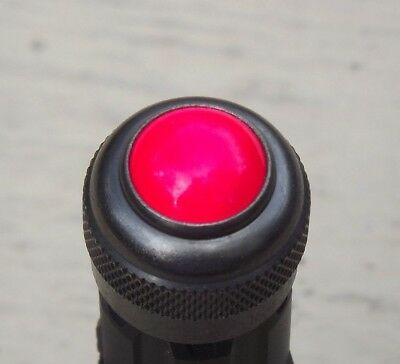 """Rare Vintage Dialco 3/4"""" Solid Red Panel Light Aircraft Steampunk 75w 125v"""