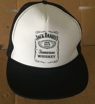 Vintage JACK DANIELS Whiskey Old No. 7 Authentic Trucker Snapback Mesh Hat Cap