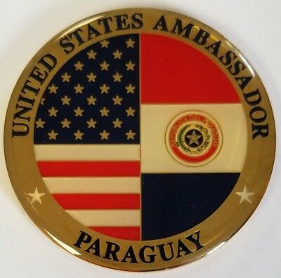 "US Department of State DOS US Ambassador Paraguay Epoxy 2"" Coin"