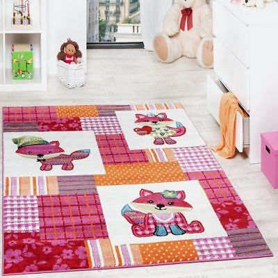 Girls Pink Rug Small X Large Childrens Animal Carpet Baby Room Playroom Mat New