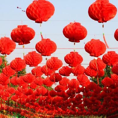 Red Paper Lantern 50 Pcs Traditional Chinese Festival Hanging Decoration Supply