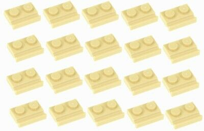4x Plate Modified 1x2 Door Rail rainure beige foncé//dark tan 32028 NEUF Lego