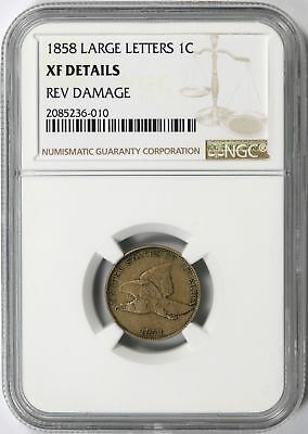 1858 Flying Eagle Cent 1c NGC XF Details Large Letters
