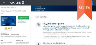$625 + $95 Sign Up Bonus for Chase Sapphire Preferred Credit Card Referral