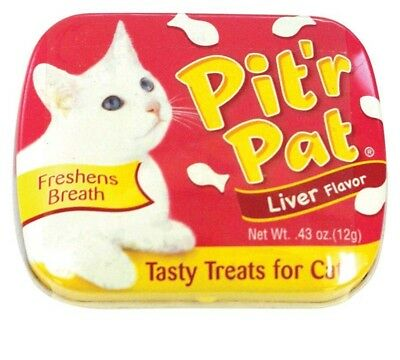 Pit'r Pat Liver Flavored Breath Freshener Cat Treats, 0.43-oz tin  Free Shipping
