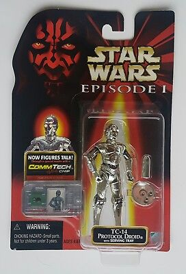 STAR WARS ▪EPISODE I▪The Phantom Menace▪ TC-14 PROTOCOL DROID ▪1999 Hasbro▪MOSC