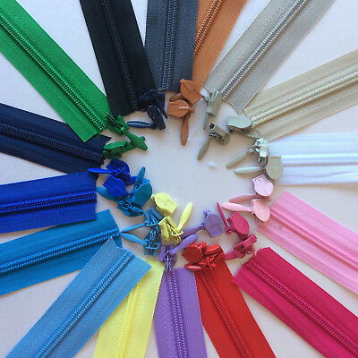 22 INCH NYLON ZIPS *33 COLOURS* SEW HABERDASHERY CONCEALED 18 No.3 INVISIBLE