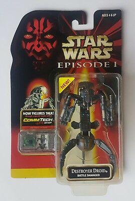 STAR WARS ▪ EPISODE I ▪ DESTROYER DROID  (Battle Damaged) ▪ 1999 Hasbro ▪ MOSC