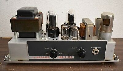 Rare Vintage Bell & Howell Filmosound Specialist 399 Projector + Tube Amp + Bulb