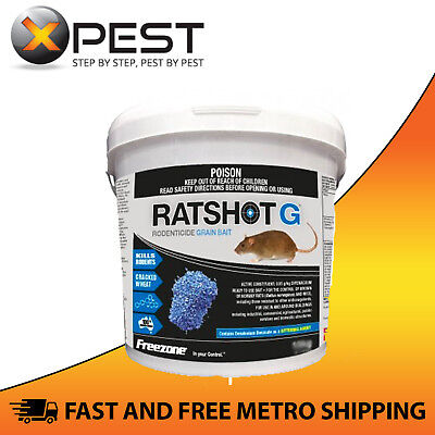 Ratshot G Blue 2kg Grain Bait *Kills Rats & Mice*