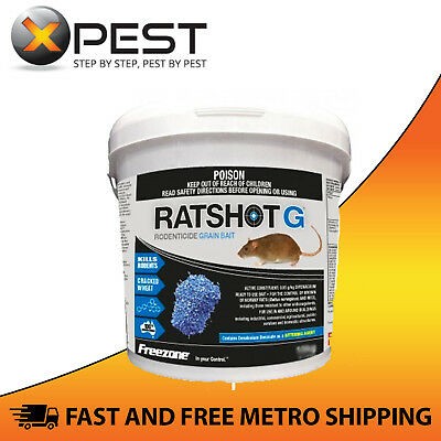 Ratshot G Blue 500gm Grain Bait *Kills Rats & Mice*