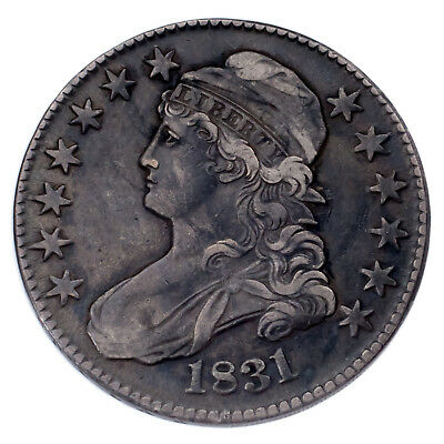 1831 Silver Capped Bust Half Dollar 50C (Fine, F Condition)