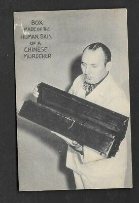 Postcard Believe It Or Not by Ripley Chest Made from A Murder's Human Skin *7725