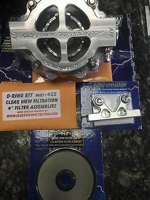 """BILLET CONNECTION Clear View Filtration 4"""" Screw on filter Assembly kit"""