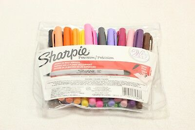 Sharpie Permanent Markers, Ultra Fine Point, Assorted Colors, 23-Count