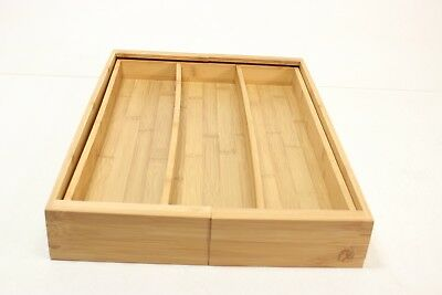 Totally Bamboo Medium Expandable Cutlery Tray & Drawer Organizer, 5   - Preowned
