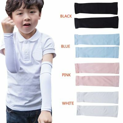 Child UV Sun Protection Ice Silk Cooling Kid Outdoor Sport Cool Long Arm Sleeves