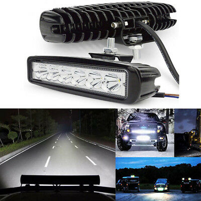 18W 6LED Work Light Bar Spot Lights for Driving Lamp Offroad Car Truck SUV